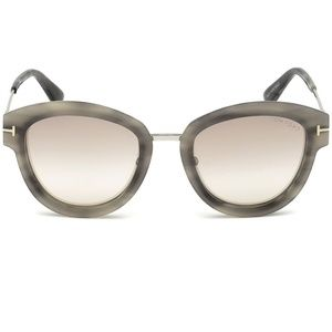 Tom Ford Mia Sunglasses Grey Havana w/Brown Lens